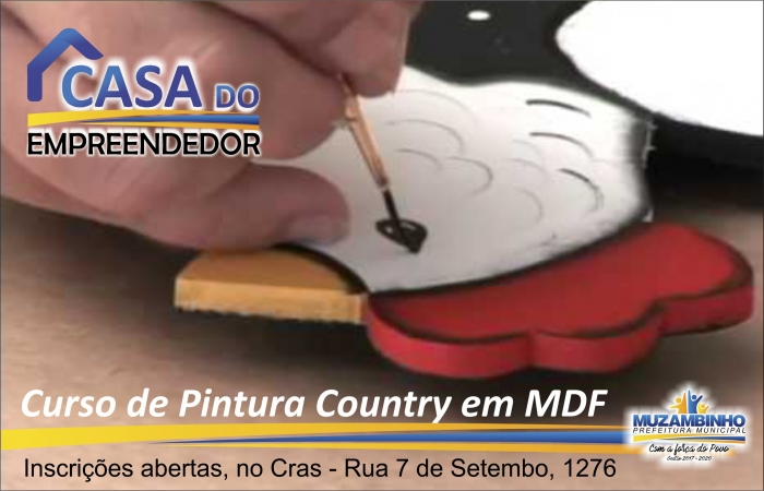 Curso de Pintura Country em MDF