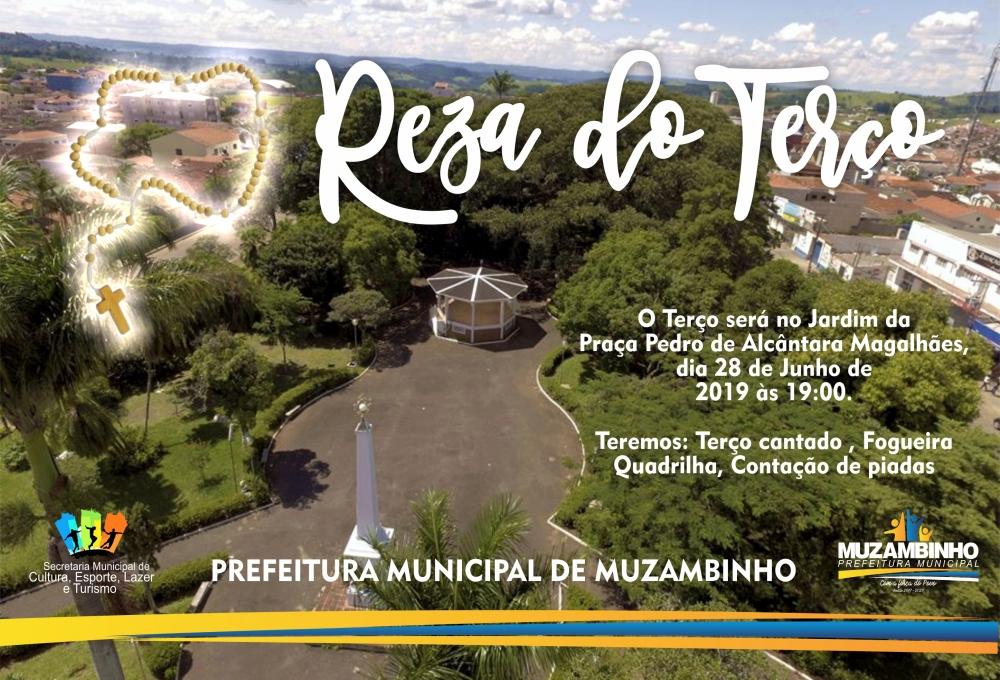 Terço que será no Jardim da Praça Pedro de Alcântara Magalhães, dia 28 de Junho de 2019 às 19:00.